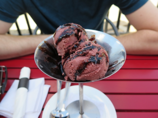 Raspberry Balsamic Ice Cream
