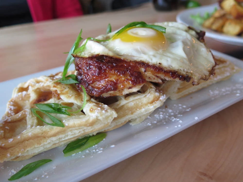 Hungry in Calgary | Cilantro Chive Waffles