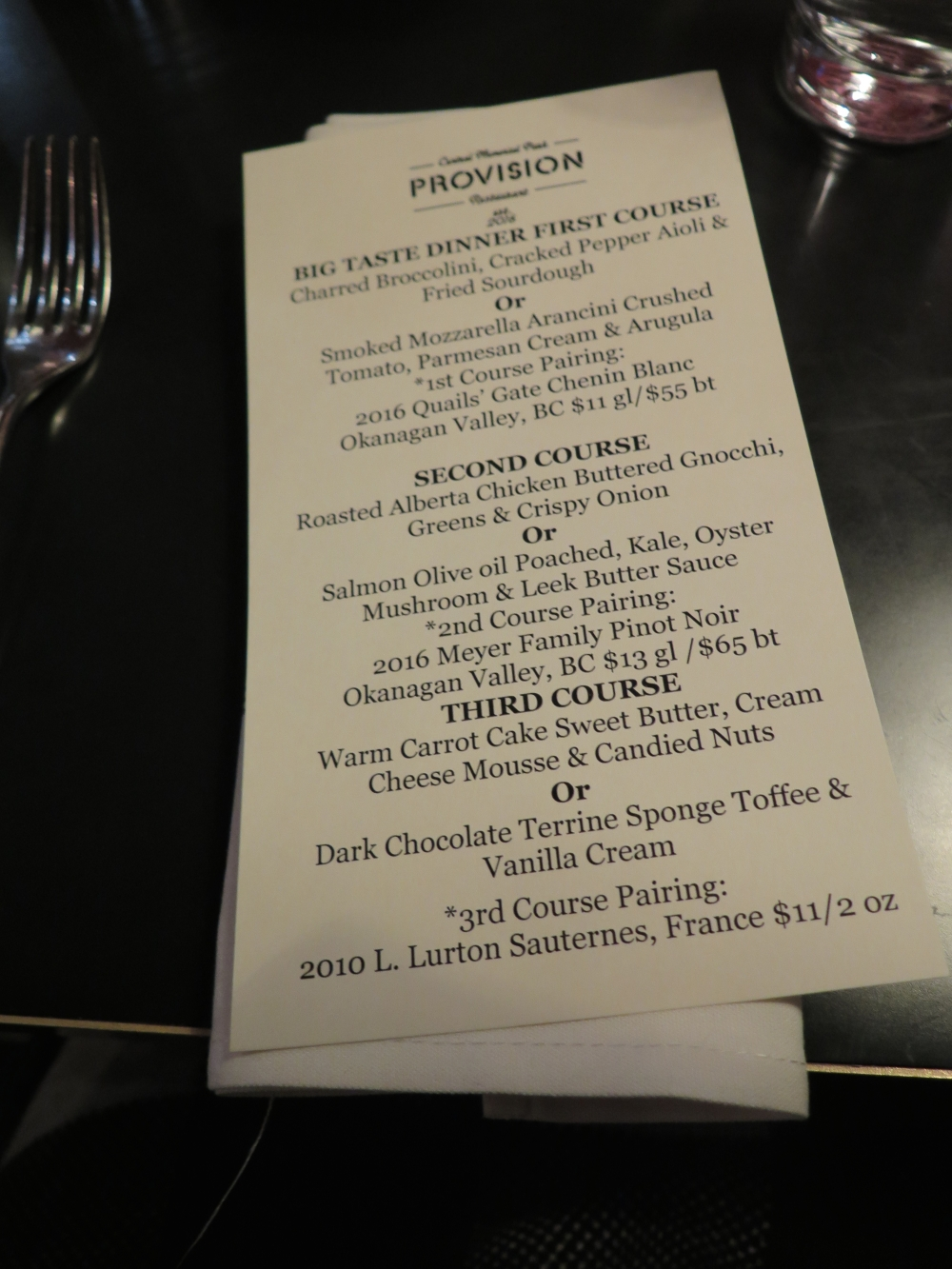 Hungry in Calgary | Provision Menu