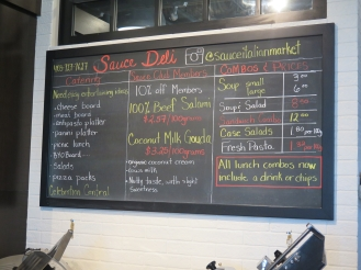Hungry in Calgary | Sauce Chalkboard